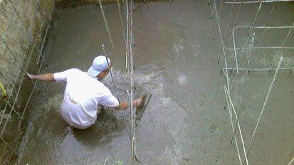 Строительство монолитного бетонного септика