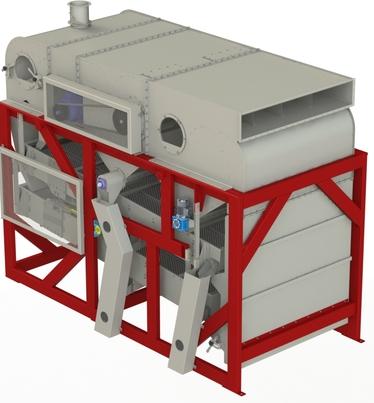 Зерноочистительная машина для элеватора напряжение ленты конвейера